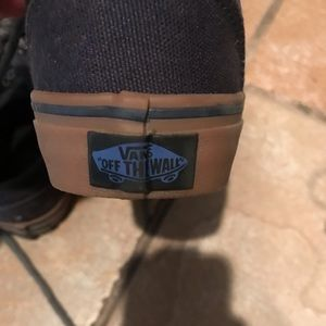 Boys Youth Vans Navy Shoes